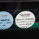 East Coast Buses Volvo B8RLE Eclipse 3 10062 SF17 VML Type Approval and Quality Control stickers