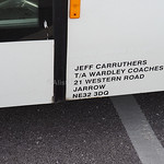 Wardley Coaches, Jarrow Mercedes-Benz Vario UNVI Radia BC06 EBC legal lettering